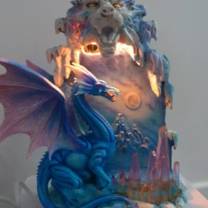 lampe dragon, statuette dragon, luminaire dragon