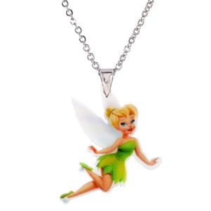 Collier FEE Clochette ® ET Pendentif Acrylique, Statuette FEE Clochette, Figurine FEE