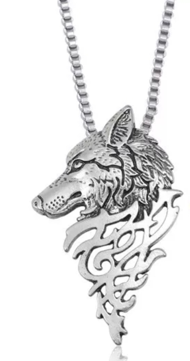Collier Loup, Figurine Loup, Statuette Loup, Loup