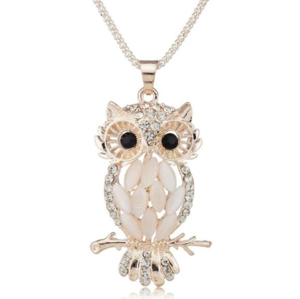 collier chouette, chouette, collier hibou