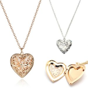 collier coeur, collier photo, collier saint valentin, collier fete des meres, collier fee