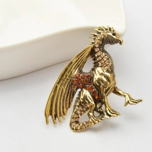 broche dragon, collier dragon, collier game of trones, statuette dragon, figurine dragon