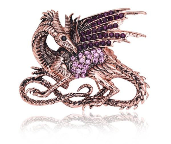 broche dragon, collier dragon, collier game of trones