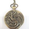 montre a gousset dragon, statuette dragon, montre dragon, dragon