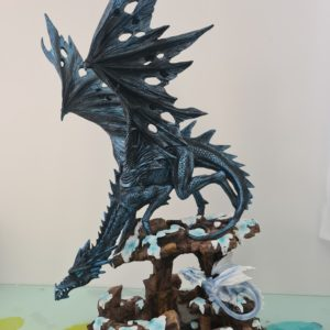 statuette dragon, figurine dragon, dragon anne stockes, anne stockes, statue dragon, grand dragon, dragon noir, statue dragon, game of throne, eragon