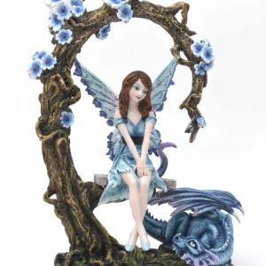 statuette fee, figurine fee, statue fee, glycine, statuette dragon, fee et fleur, fontaine fee, collier fee